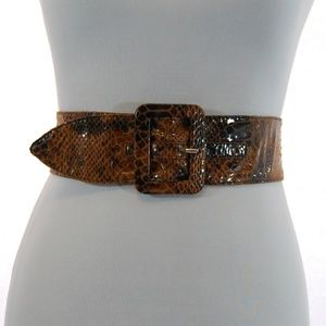 Flexible Brown Snake Belt
